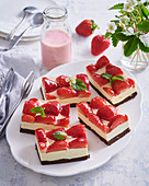 Non-baked strawberry cuts