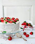 Strawberry, mascarpone and espresso cake