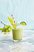 Cucumber and grape smoothie