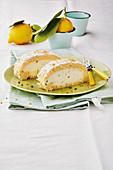 Italian lemon roulade cake