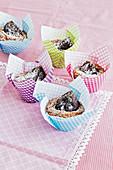 Kastanien-Erdmandel-Muffins mit Feigen