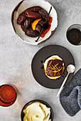 Tetsuya wakuda - Japanes compote of dates with coffee and orange