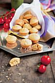 Mini savoury chickpea muffins