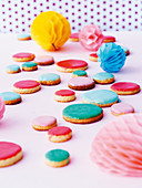 Colourful confetti biscuits