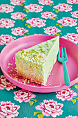 Lime and coconut cheesecake
