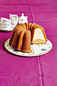 Carrot Bundt cake with a cheesecake filling