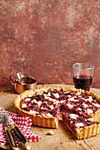 Beetroot tart with feta