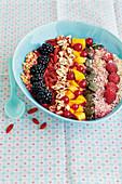 Fruity smoothie bowl
