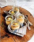 Lemon and thyme soufflé