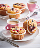 Breakfest oat muffins with currants
