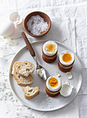 Boiled breakfast eggs