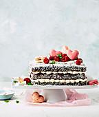 Lamington cake for Valentine's Day
