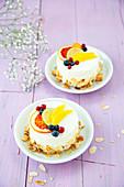 Passion fruit yoghurt tartlets