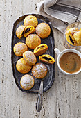 Carrot buns with damson cheese