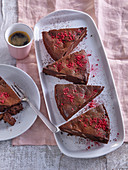 Chocolate cake with pumpernickel spices