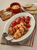 Chicken shashlik with horseradish mayonnaise