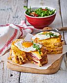 Croque Madam sandwich