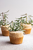 Vanilla Cupcakes with rosemary