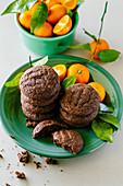 Dark chocolate and tangerine cookies