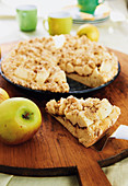 Apple pie with amaretto sprinkles