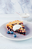 Blueberry tart with sprinkles