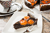 Poppy cake with apricots