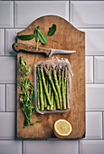 Green asparagus with herbs