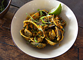 Indian spiced clams