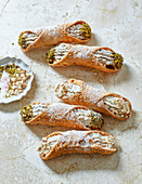 Cannoli - filled dough rolls from Sicily