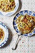 Pasta con le sarde - Pasta mit Sardinen aus Sizilien
