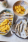 Scapece di Gallipoli - Fried fish in breadcrumbs from Puglia