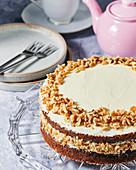 Carrot and walnut cake