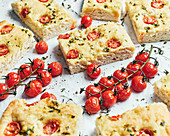 Italian Focaccia with tomatoes