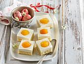 Apricot cheesecake cuts