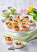 Mini coconut baskets for easter