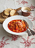 Beef tripes with tomato sauce
