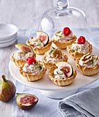 Canapes with camembert spread