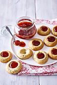 Hussar cookies with hip rose jam
