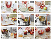Preparing caramel Apples