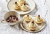 Dulce de leche tartlets with hazelnut cream