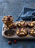 Gluten-free poppyseed muffins with morello cherries