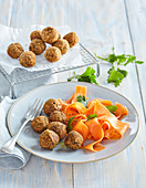 Lentil balls with carrots