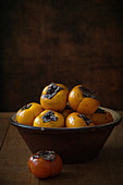 Passion fruit in a antique bowl