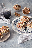 Hazelnut and coffee muffins
