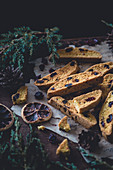 Orange and cranberry cantuccini