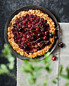 Almond and cherry galette