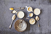 Cream variety - clotted, double, whipping, single, light and half-fat, soured, Jersey cream and Crème fraîche