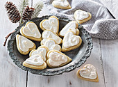 Drunk Christmas cookies (hearts)