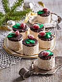 Christmas coconut tartlets