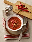 Hearty goulash soup